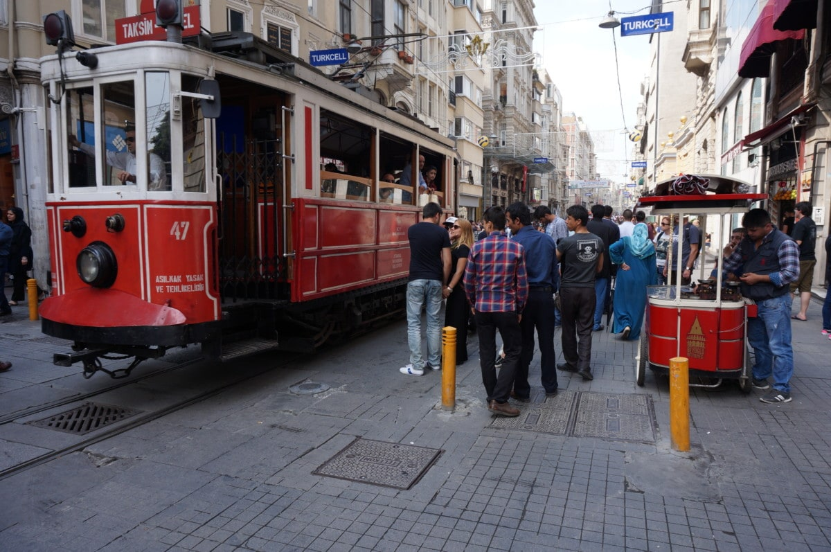 Istiklal Avenue is a pedestrian only shopping street with all the major brands. There's even a Shake Shack here