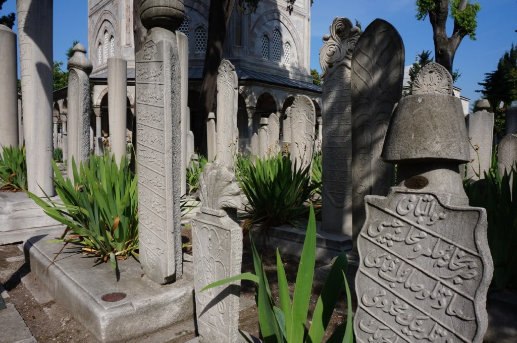 Outside Süleymaniye Mosque is the graveyard which is worth taking a look