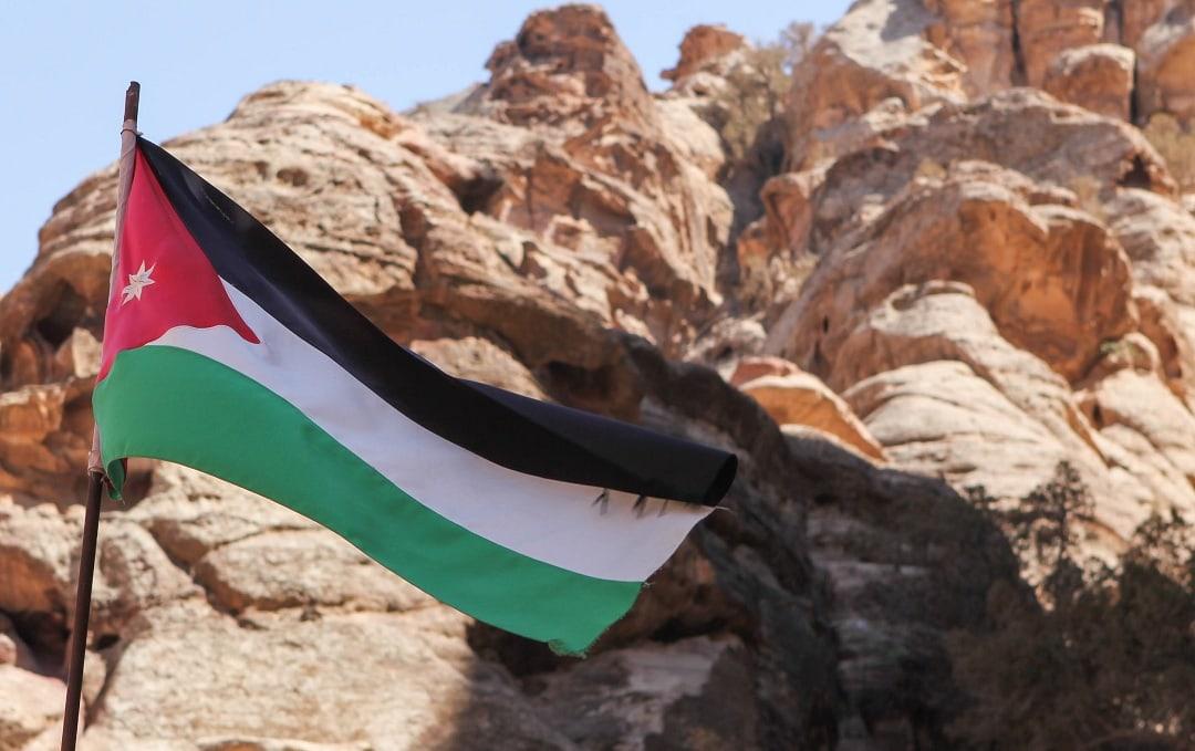 Jordan's flag flies proudly