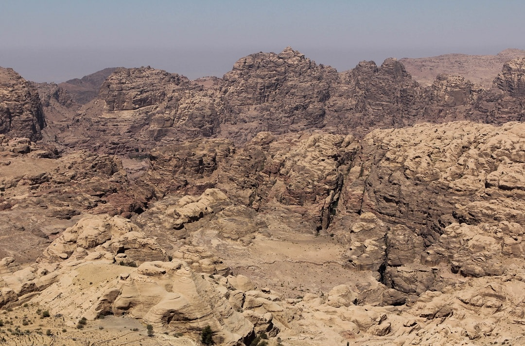 A look at Petra from above, it's completely hidden