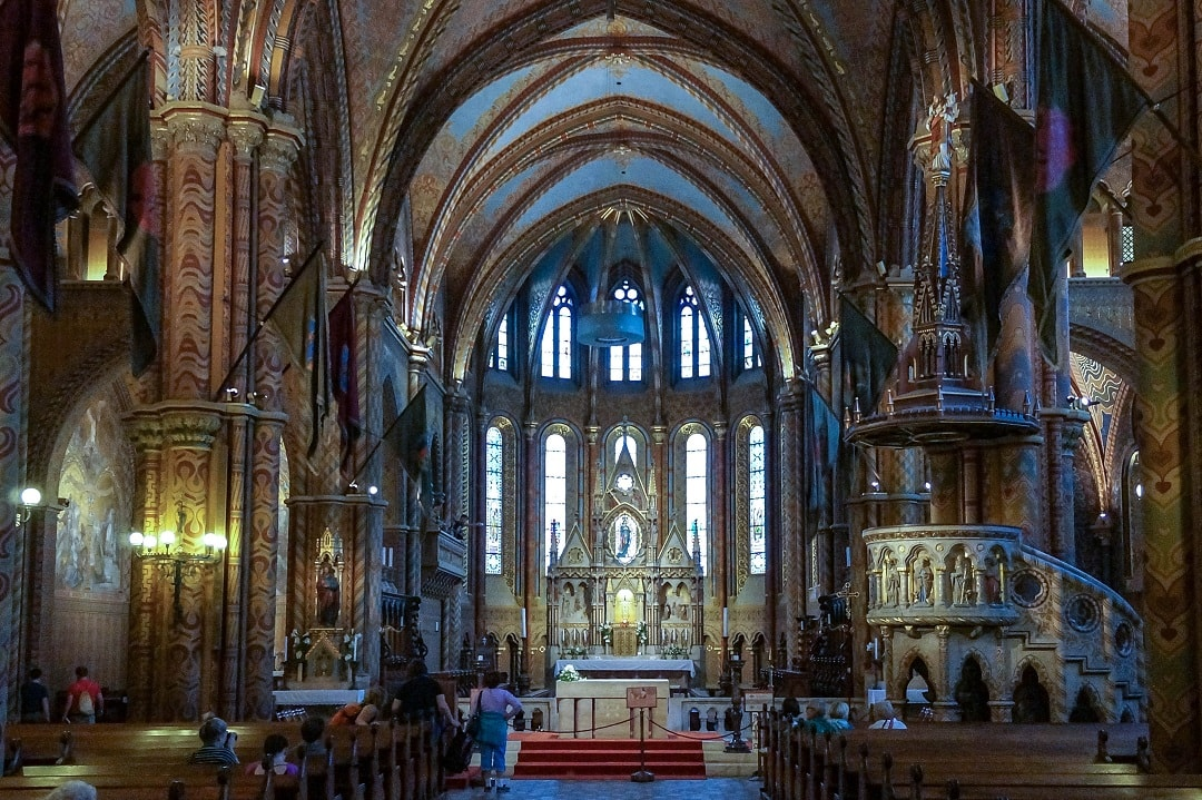 Like many older Roman Catholic churches, the interior is stunning