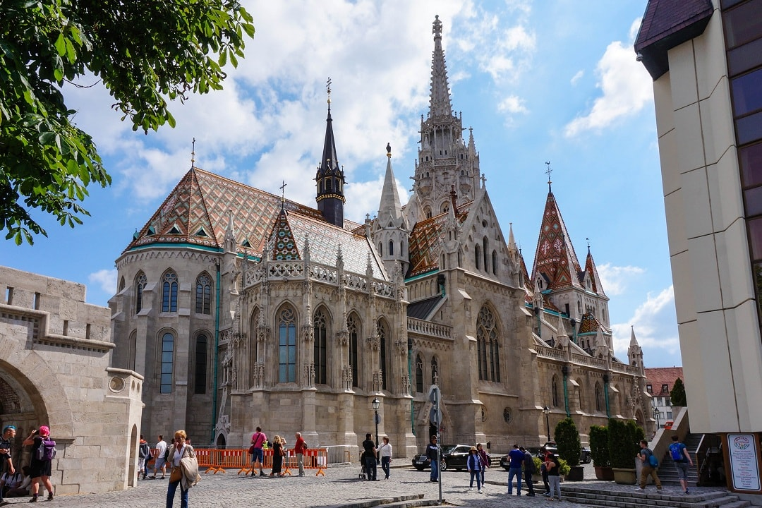 Matthias church is also located in castle hill and was originally built in 1015