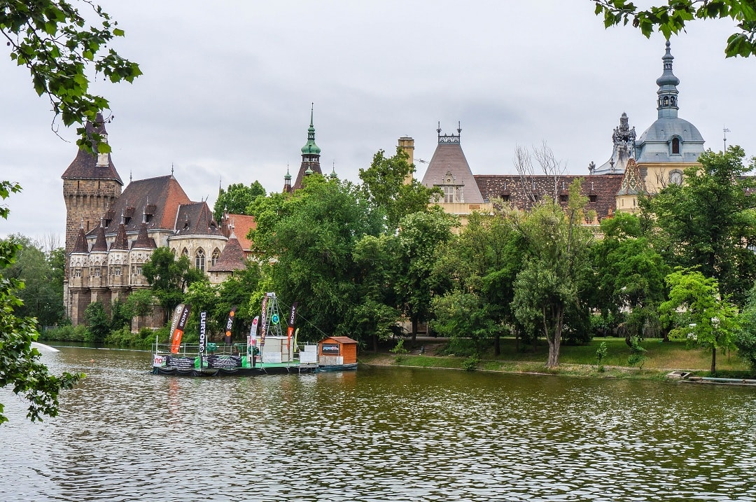 Vajdahunyad Castle is located close to Heroes' Square and houses the Museum of Hungarian Agriculture