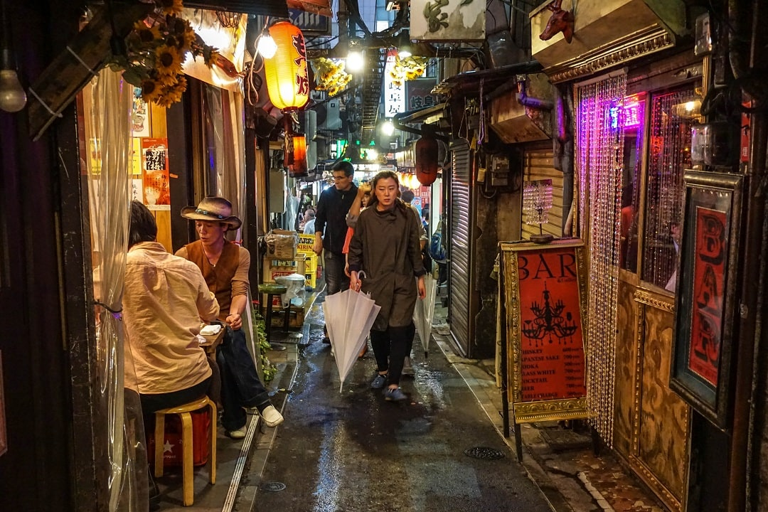 """Piss alley"" is located in Shinjuku and is a popular place to eat"