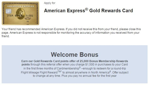 American Express Gold Rewards Card Review referral