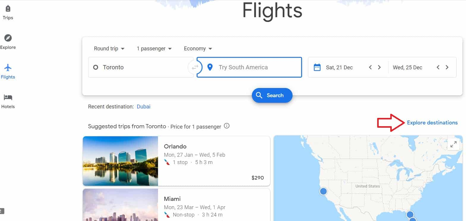 How to find cheap flights google