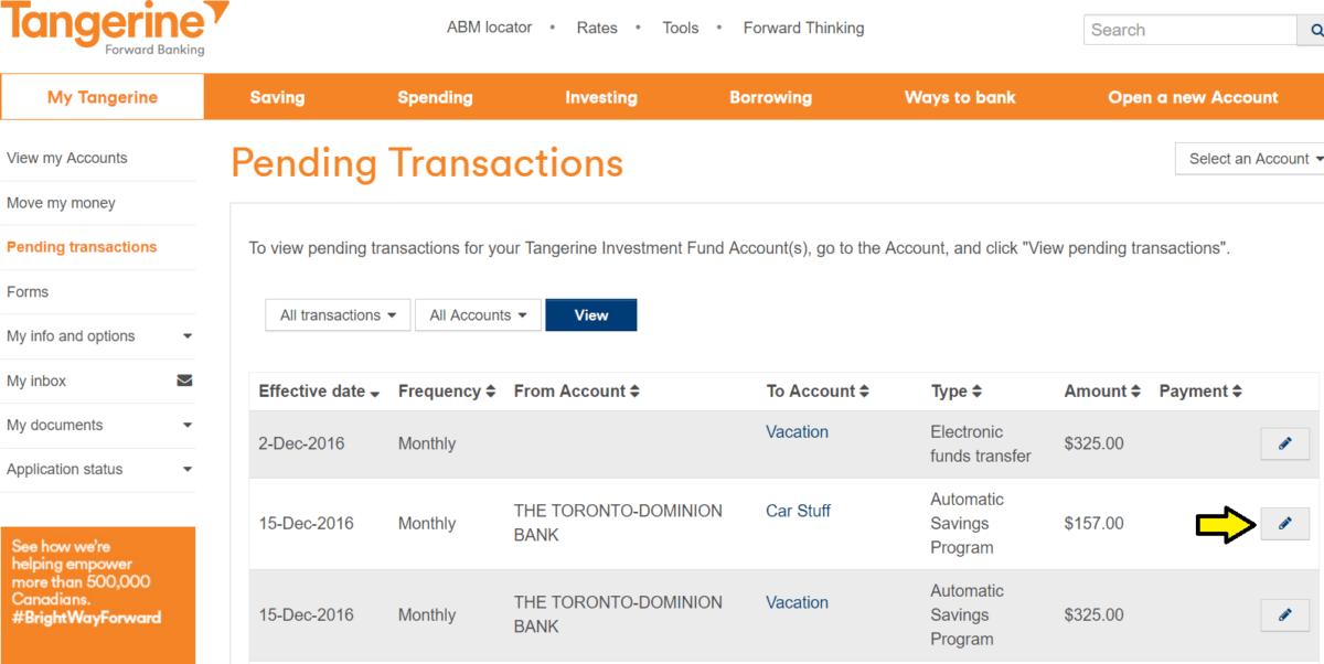 automatic-savings-program-with-tangerine-pending-transactions
