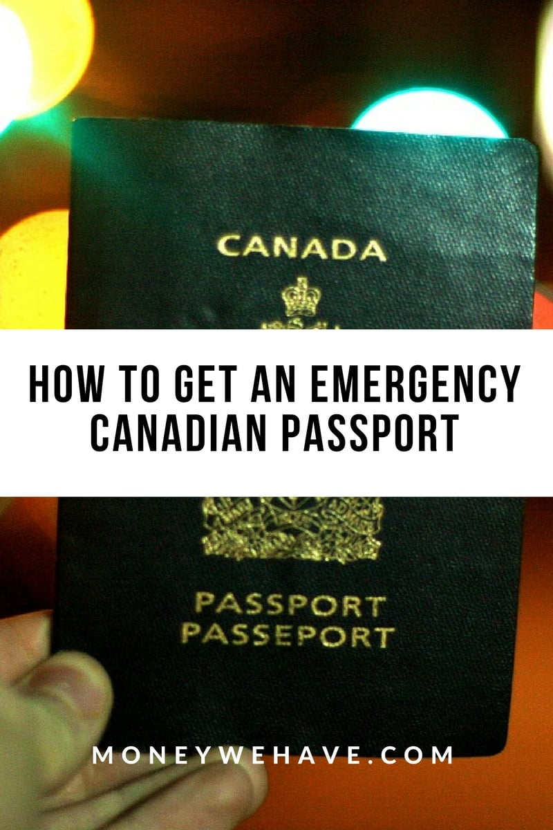 How to get an Emergency Canadian Passport