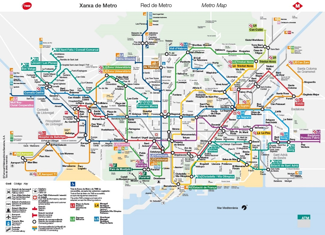 Barcelona Subway Map.Barcelona Metro Map Money We Have