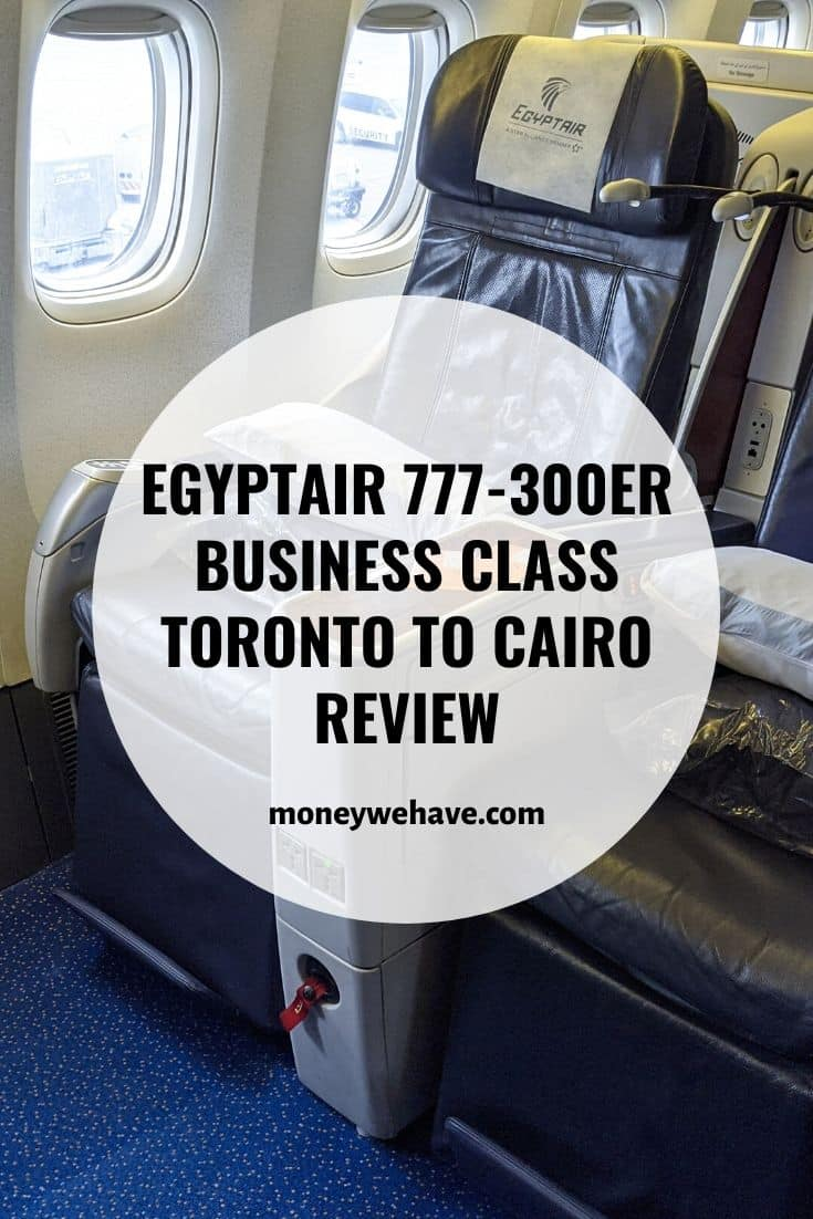 EgyptAir 777-300ER Business Class Toronto to Cairo Review
