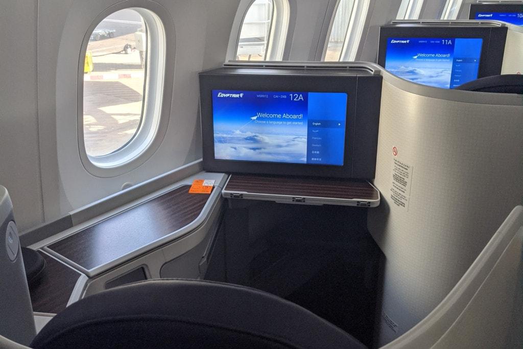 EgyptAir 787-9 Business Class Cairo to Dubai Review