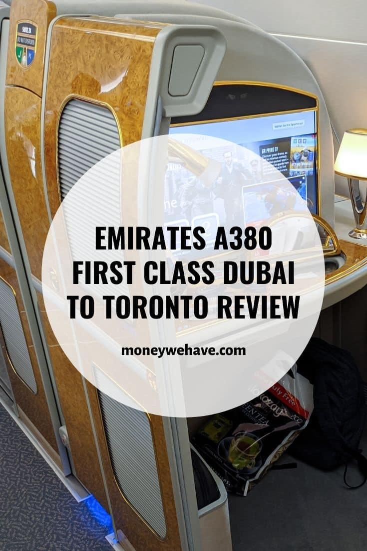 Emirates A380 First Class Dubai to Toronto Review
