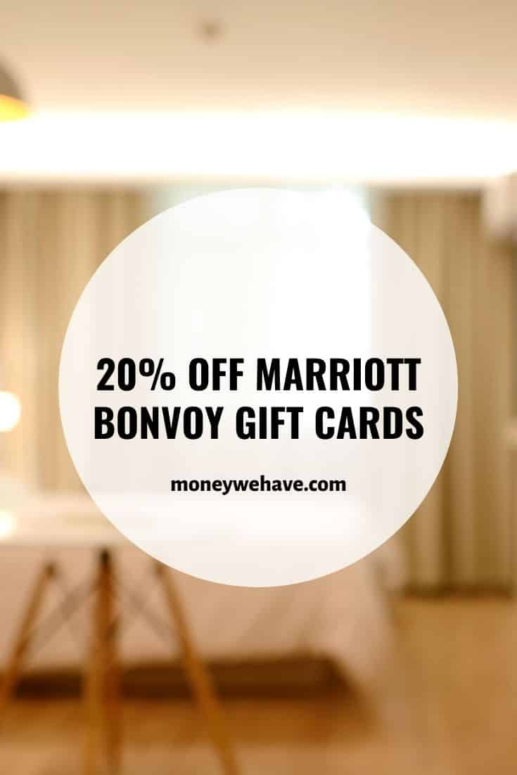 20% off Marriott Bonvoy Gift Cards