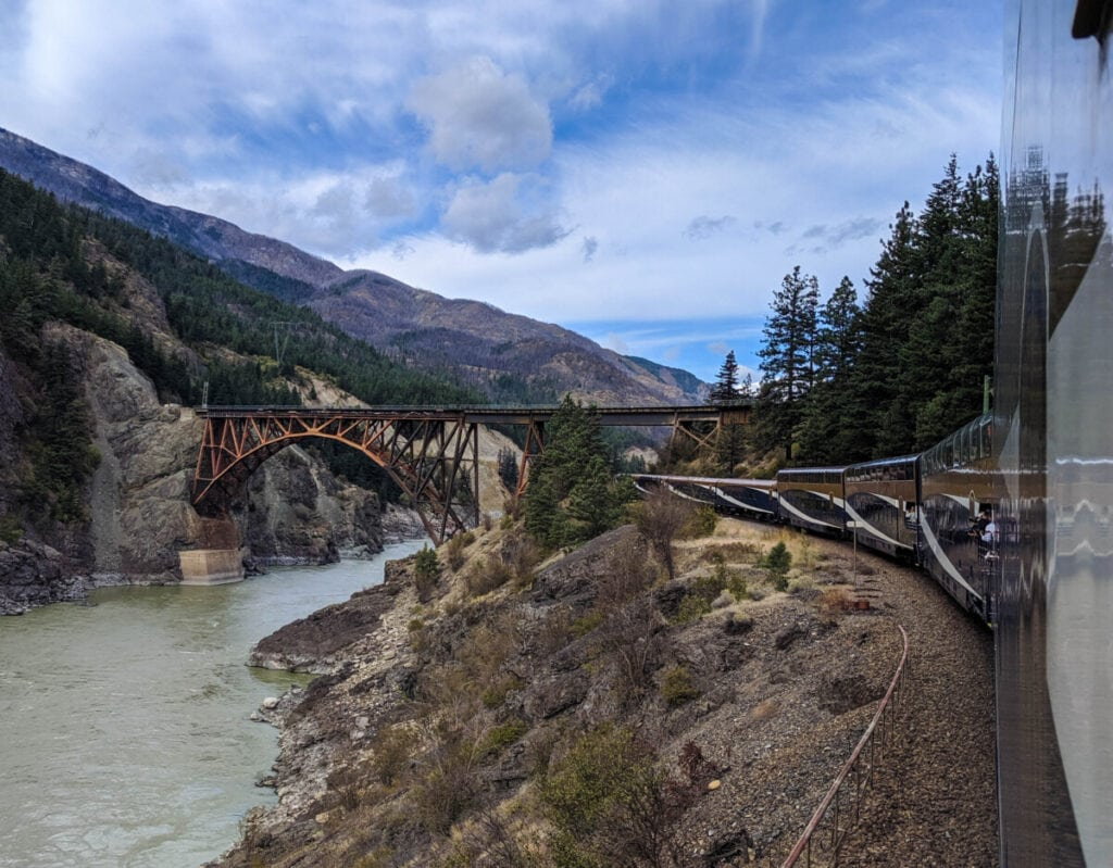 Rocky Mountaineer Review bridge and train