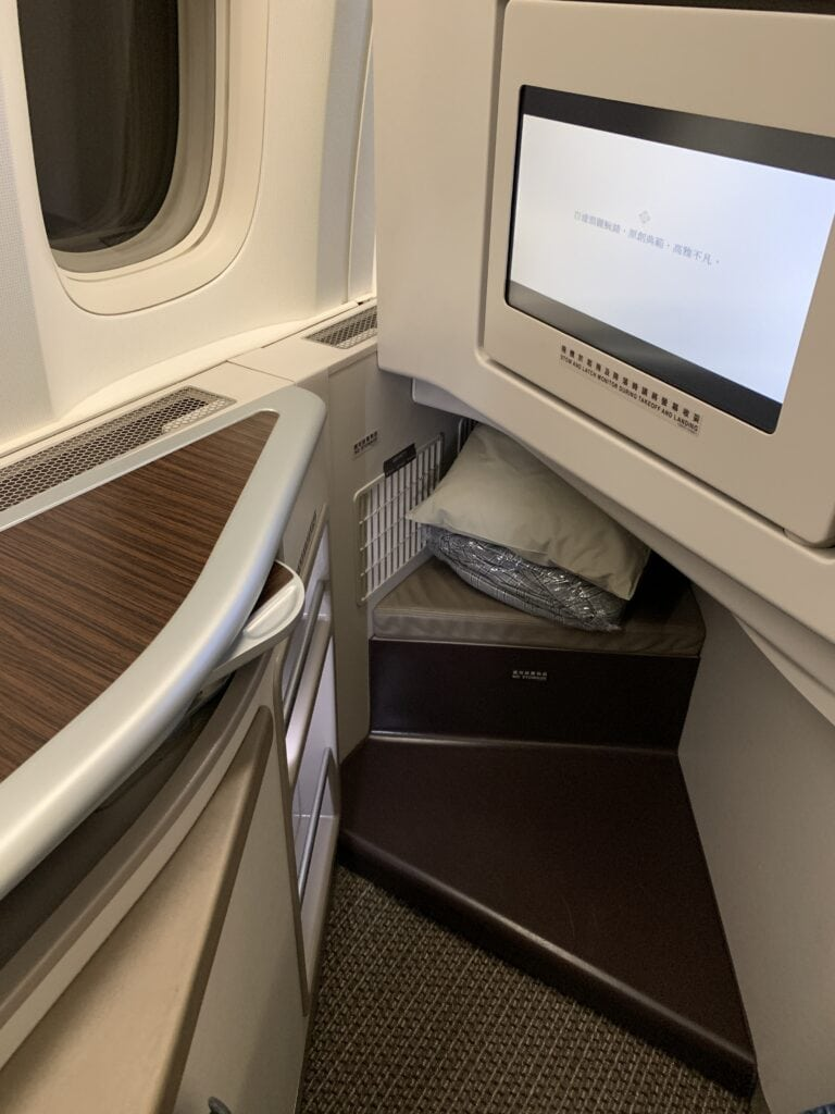 EVA Air Business Class Boeing 777-300ER Taipei to San Francisco seat