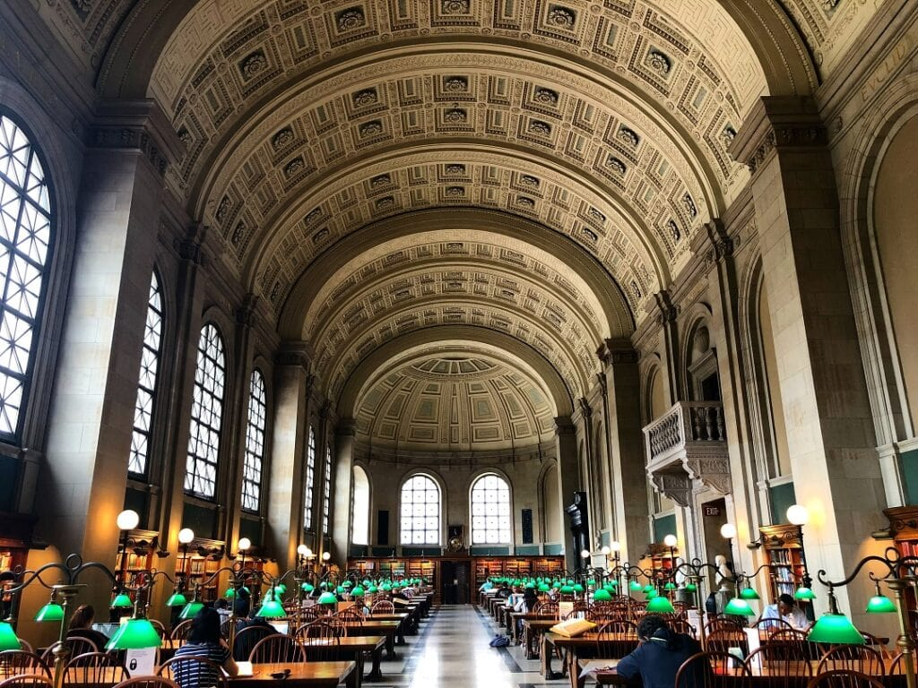 How much does it cost to go to Boston library