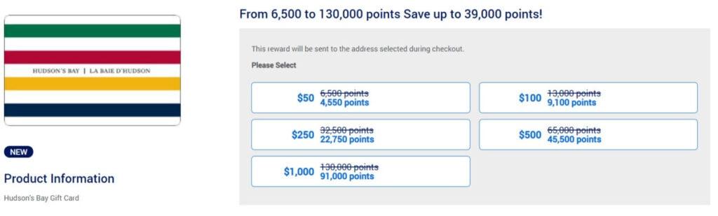 American Express Membership Rewards gift cards