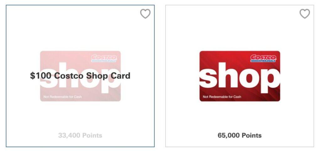 HSBC Rewards gift cards